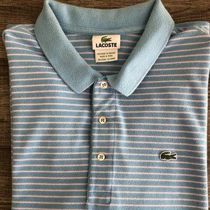 LACOSTE Striped Mens Polo Shirt – VTG – Rare!